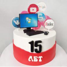 Торт в виде компьютера