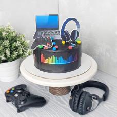 Торт компьютер без мастики