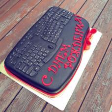 Торт в виде клавиатуры