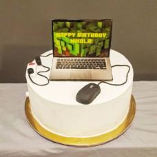 Торт ноутбук для мальчика