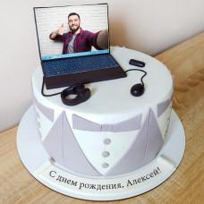 Торт программеру с ноутбуком