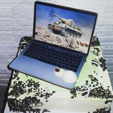 Торт ноутбук с мышкой