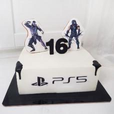 Торт Плейстейшен на 16 лет