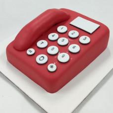 Торт красный телефон