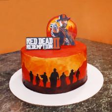 Торт в стиле Red Dead Redemption