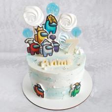 Торт Амонг Ас без мастики