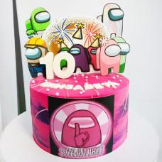 Торт Амонг Ас для девочки