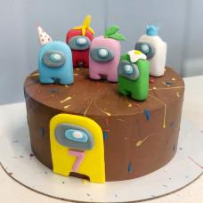Шоколадный торт Among Us
