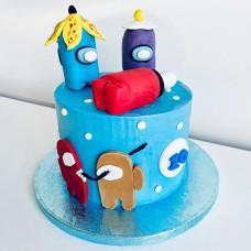 Торт с Амонг Ас на день рождения