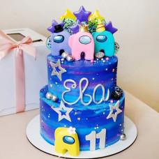 Двухъярусный торт Амонг Ас