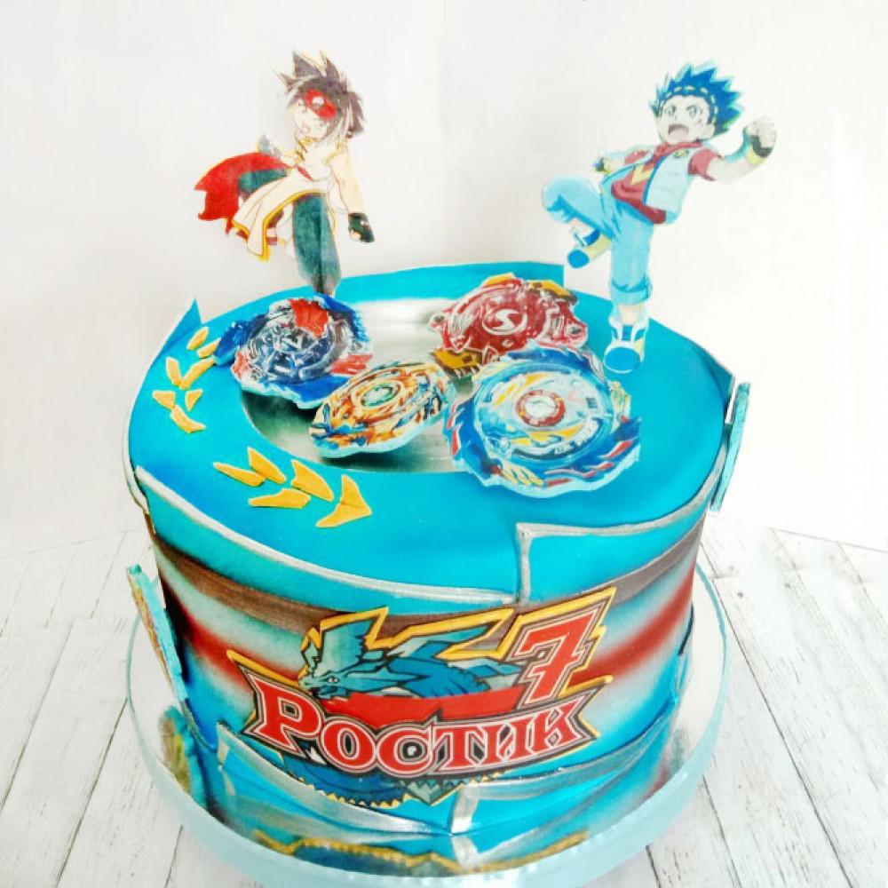 Торт в стиле игрушки Beyblade