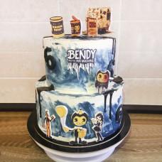 Торт по игре ужасов Бенди