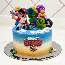 Торт с героями Браво Старс
