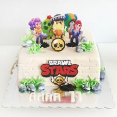 Торт Brawl Stars на день рождения