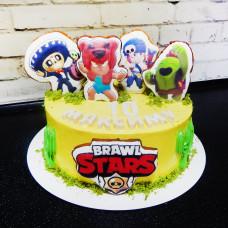 Торт Brawl Stars на 10 лет