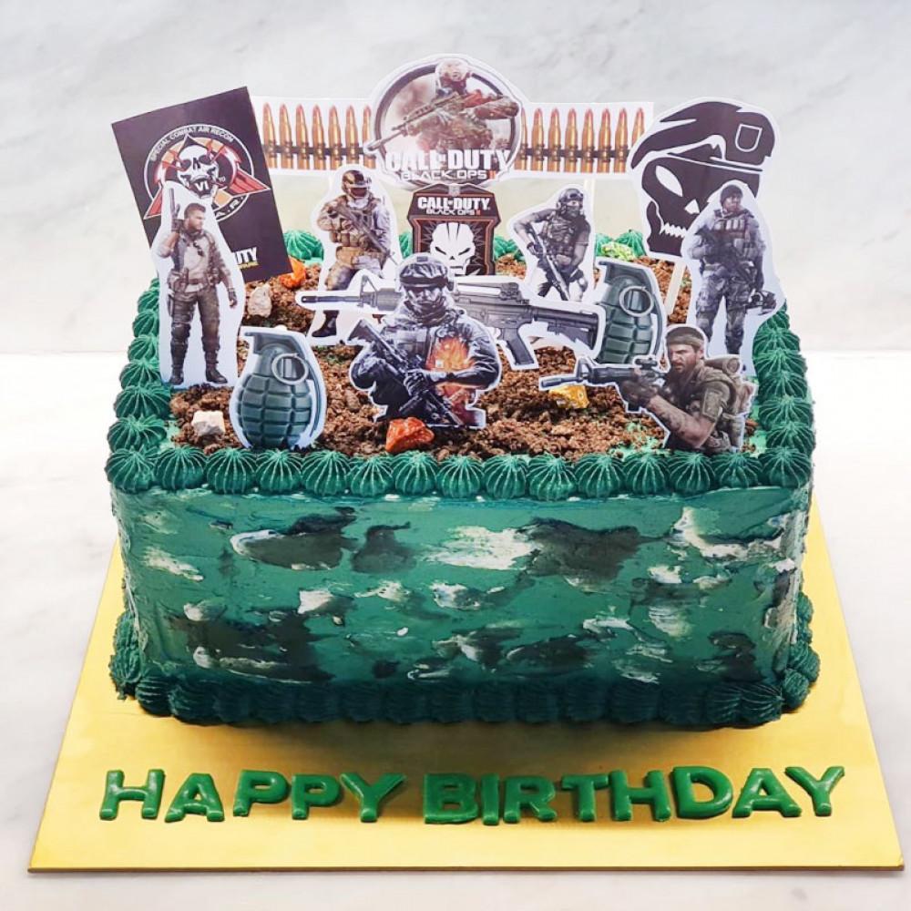 Торт Call of Duty на день рождения