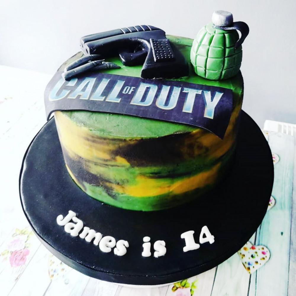 Торт на тему Call of Duty