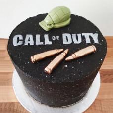 Торт Call of Duty с оружием