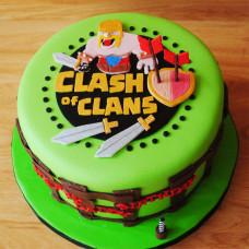 Двухъярусный торт Клэш оф Кланс