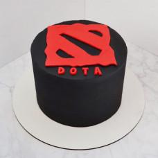 Торт лого Dota 2