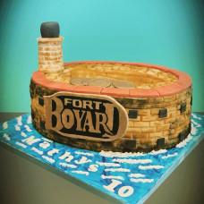 Торт в форме форта Боярд