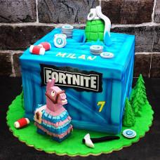 Торт на день рождения мальчику Фортнайт