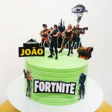 Торт с фигурками Фортнайт