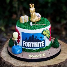 Торт Фортнайт с золотой Ламой