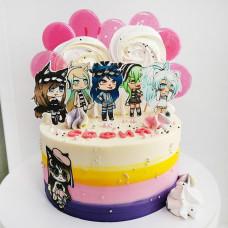 Торт Гача Лайф для девочки