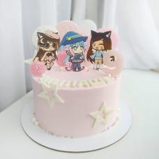 Торт Гача Лайф на день рождения