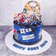 Торт Геншин импакт на день рождения