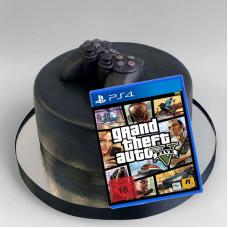 Торт с игрой ГТА для приставки PS4