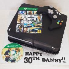 Торт приставка xBox и игра GTA
