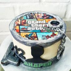 Торт ГТА 5 на день рождения