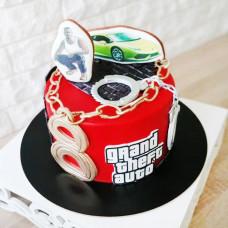 Торт ГТА 5 на день рождения мальчику