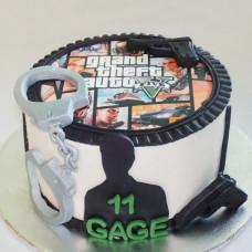 Торт ГТА на день рождения
