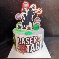 Торт Лазертаг для сына