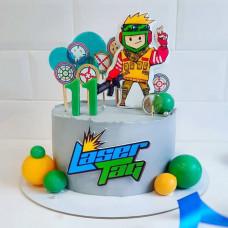 Торт Лазертаг на 11 лет