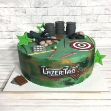Торт на тему игры Лазертаг