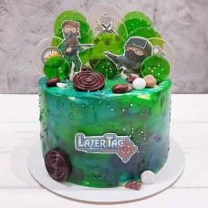 Торт Лазертаг на день рождения