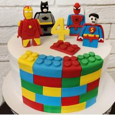 Торт Лего Марвел