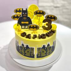 Торт Лего Бэтмен на 3 годика