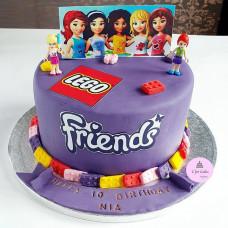 Торт Лего Френдс на 10 лет девочке