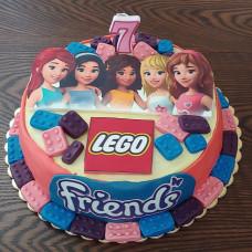 Торт Лего Френдс на день рождения