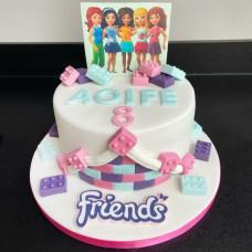 Торт Лего Френдс для девочек