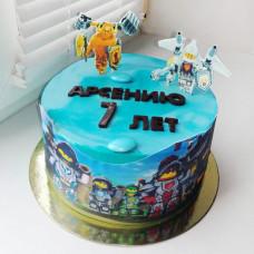 Торт Лего Нексо Найтс на 7 лет
