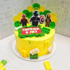 Торт Супергерои в стиле Лего Сити