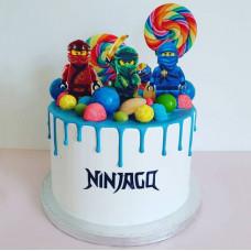 Торт радужный Лего Ninjago