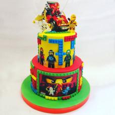 Двухъярусный торт Лего Ниндзяго