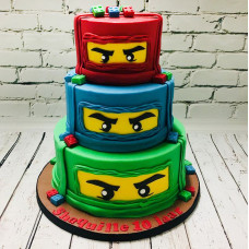 Большой торт Лего Ниндзяго